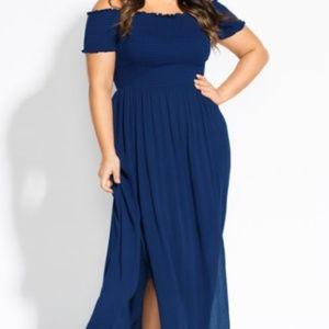 City Chic Sapphire Maxi Dress